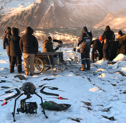 [Foto Neo drone op de set van Games of Thrones in IJsland]