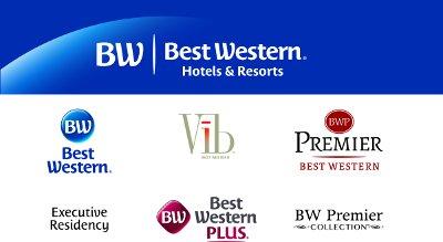 [De nieuwe logo's van Best Western Hotels & Resorts]