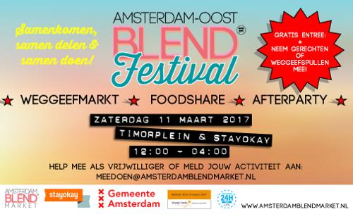 Amsterdam-Oost BLEND Festival tijdens NLdoet & 24H Oost