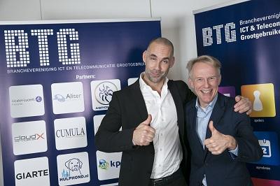[Richard van Hooijdonk, Trendwatcher (l) en Jan van Alphen, Voorzitter BTG (r)]