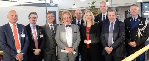 Sprekers en panelleden symposium maart 2017. Foto: Politiefotograaf Oost-Brabant