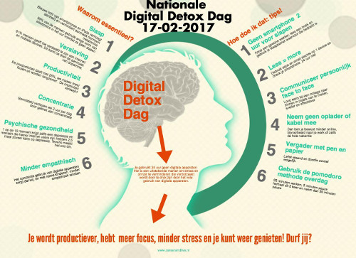 [Infographic: Nationale Digital Detox Dag]