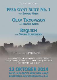 [Flyer Noors concert jubileum Corda Vocale - voorkant]