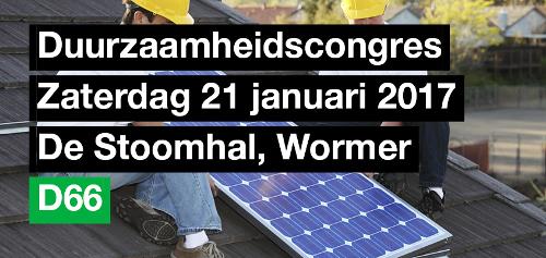 Duurzaamheidscongres D66 Noord-Holland
