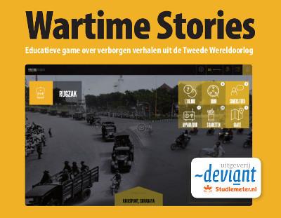 Uitgeverij Deviant heeft met de educatieve game Wartime Stories de Comenius EduMedia Medaille 2015 gewonnen.