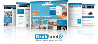 [Nieuwe huisstijl en website voor online drukkerij Drukland.nl]