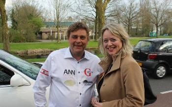 Jan Huzen en CDA Tweede-Kamerlid Agnes Mulder
