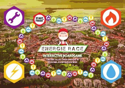 [De Energierace-game: bordspel aan app gekoppeld]