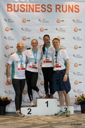 Marathon Rotterdam kick-off van inzamelingsactie voor OCT voor oogbank