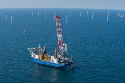 Bouw windpark op zee Nobelwind eerder klaar