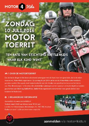 Motor4Kids organiseert een motortoertocht voor het goede doel