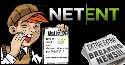 NetEnt stopt met reeks videoslots