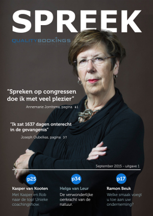 Sprekersbureau Quality Bookings komt deze maand met een geheel nieuwe magazine genaamd: SPREEK.