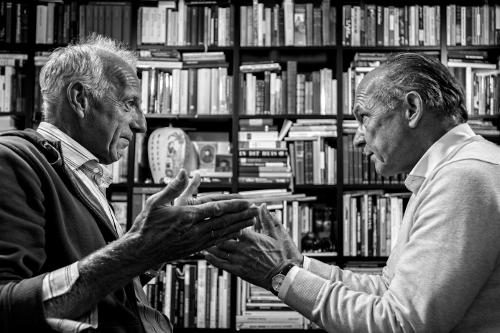 Roeland Schweitzer (l) en Willem Wansink, auteurs van Iedereen journalist. Foto © Hans Hordijk uitvergr@uitvergroot.nl