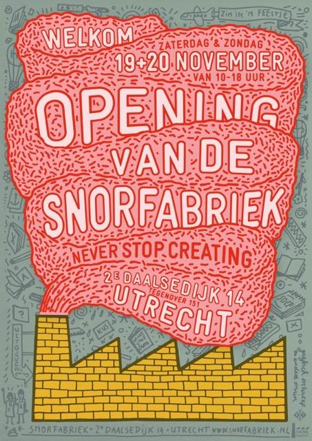 [Affiche: Opening van de Snorfabriek]