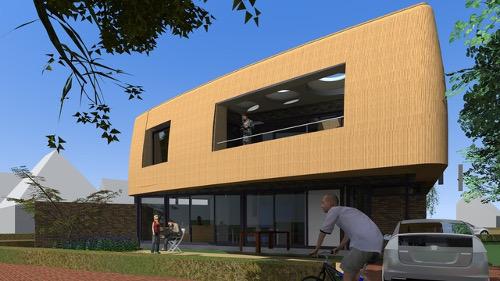 Het winnende ontwerp: Passief Huis met rieten kap van architect Wolter Heijligers van DSH Architecten.