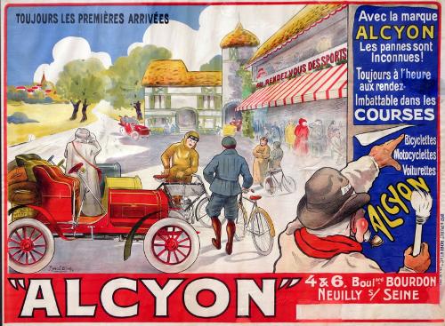 [Affiche 'Alcyon' van Marcel Bloch in Steendrukmuseum Valkenswaard]