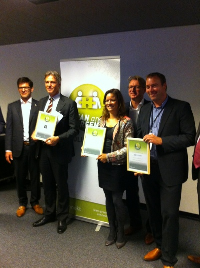 [Lean and Green Solution Award voor Talk and Vision]
