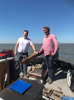 Pop-up bistro met visvervanger op oude ansjovisvanger