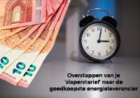 [Illustratie: Stap over van 'slaperstarief' naar goedkoopste energieleverancier]