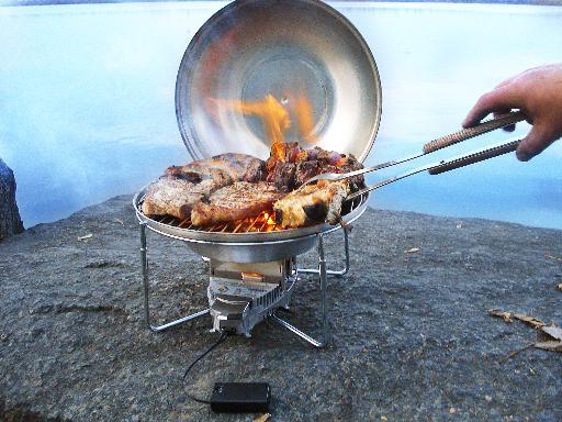 [Foto: De Vital Grill met de ecologische brander Vital Stove]