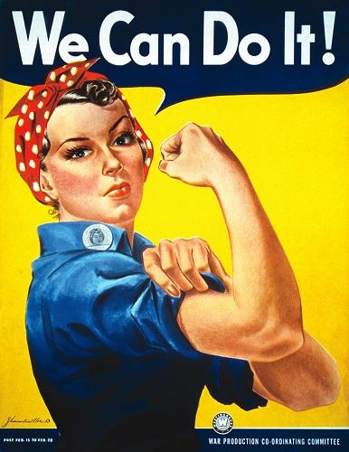 [De iconische 'We Can Do It!' poster]