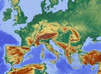 Search image kaart europa